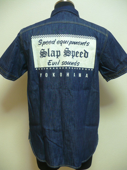 "【SLAP SPEED】""GARAGE WORK SHIRTS""BACK STYLE."