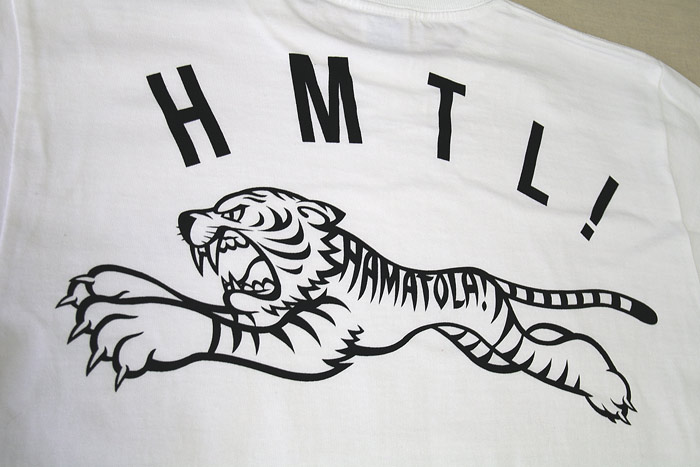 【HAMATOLA!】Jumiping HAMATOLA! Tiger T-SHIRT WHITE