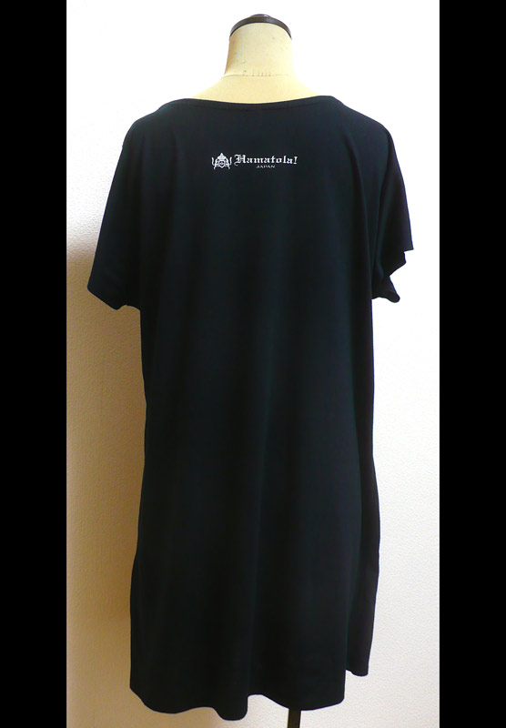 【HAMATOLA!】Jumping HAMATOLA! Tiger Lady's T-SHIRT BLACK Back Style.