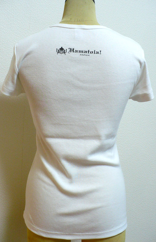 【HAMATOLA!】Jumiping HAMATOLA! Tiger Lady's T-SHIRT WHITE