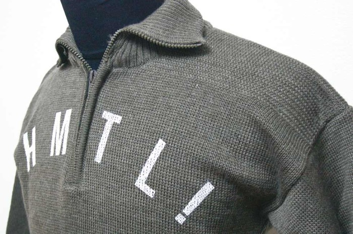 HAMATOLA! HTK-132 Half Zip Motorcycle Knit Sweater Race Jersey Design.
