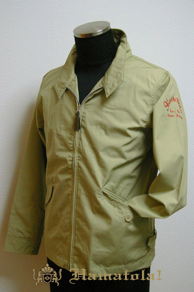 "【HAMATOLA!】Baracuta Type Jacket ""Ton Up Speed Society"" Color=Sand Khaki"