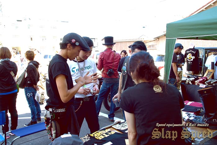 """""""Natto Cafe&Clothing"""" Vendor Booth""""Cafe Racer Day 2nd"""" Sep.14.2014 Mie Japan."""