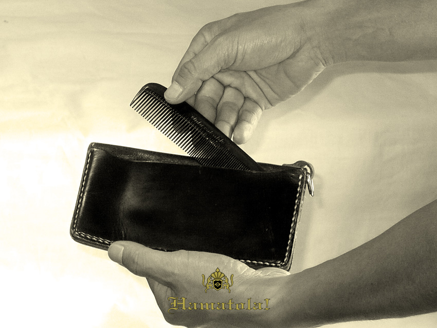 "【HAMATOLA!】 ""Highway Wallet"" Greaser's Comb into  Ticket Pocket!"