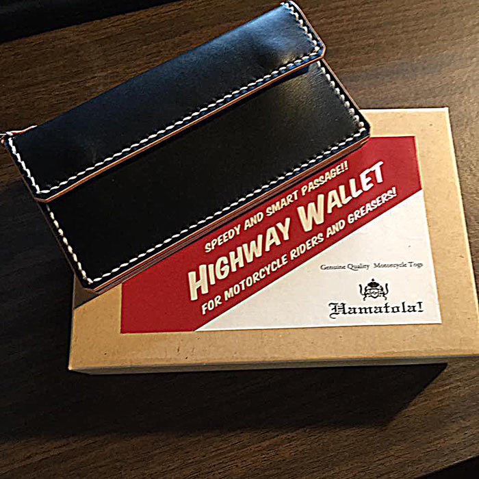 "HTW-161w HAMATOLA! ""Highway Wallet"" in ""BOPPER'S Fine Clothing"" Kobe."