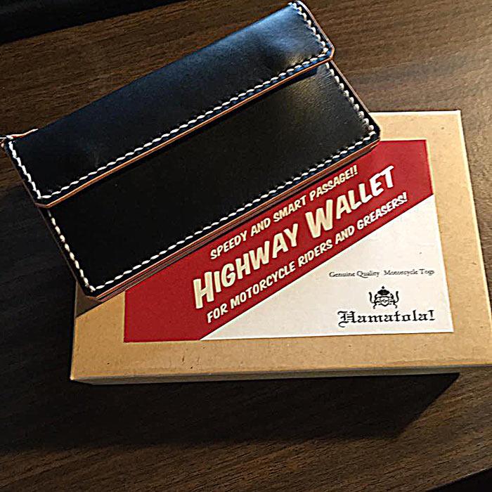"""HTW-161w HAMATOLA! """"Highway Wallet"""" in """"BOPPER'S Fine Clothing"""" Kobe."""
