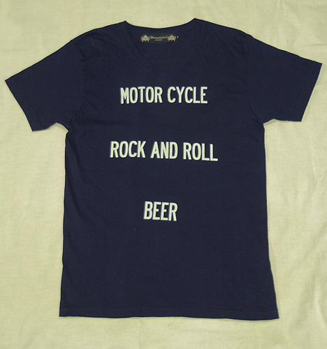 "HAMATOLA! ""Motorcycle×R&R×Beer"" T-Shirts"