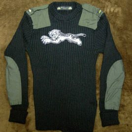 "【HAMATOLA!】Padded Motorcycle Sweater ""Jumping Tiger"""