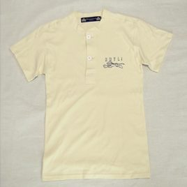 "【HAMATOLA!】Classic Henley Neck T-Shirts ""Jumping Tiger"" BLACK"