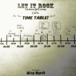 "5.5.2018 ""LET IT ROCK"" Time table."