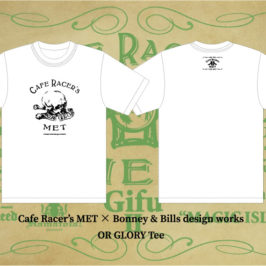 【Cafe Racer's MET】×【Bonney & Bills design works】コラボT-Shirts