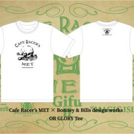 【Cafe Racer's MET】×【Bonney & Bills design works】コラボT-Shirts