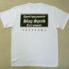 【SLAP SPEED】BOX LOGO T-Shirts White×Black Back Style