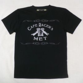 【Cafe Racer's MET】《Fast Dry》T-SHIRTS (Front Print)Black