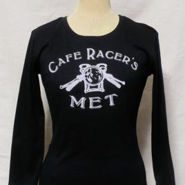 【Cafe Racer's MET】for Ledy's Long Sleeve T-SHIRTS BLACK