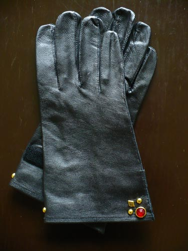 "HAMATOLA! ""HOT SEASON STUDS GLOVES Brass×Red"