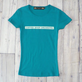 "【Alpha Betti Cafe×HAMATOLA!】collab Line ""Coffee Shop Orchestra""    Women's T-Shirts (Apple Green)"