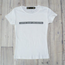 "【Alpha Betti Cafe×HAMATOLA!】collab Line ""Coffee Shop Orchestra""    Women's T-Shirts (White)"