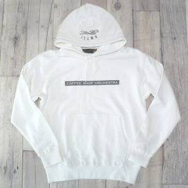 "【Alpha Betti Cafe×HAMATOLA!】collab Line ""Coffee Shop Orchestra""    Pull Over Hoodie (White)"