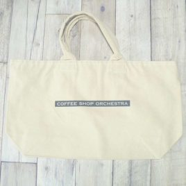 "【Alpha Betti Cafe×HAMATOLA!】collab Line ""Coffee Shop Orchestra""  Canvas Zip Tote Bag (Natural)"