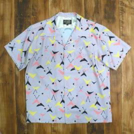 "【GOOD ROCKIN'】GRS-321 ""Boomerang"" 50's Style S/S Shirts L.Gray"