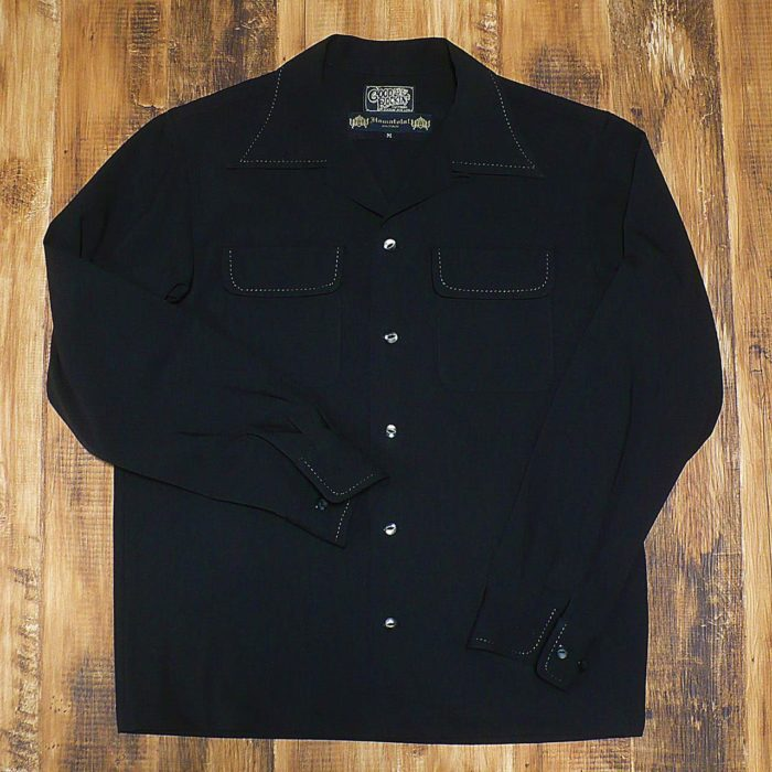 【GOOD ROCKIN'】×【HAMATOLA!】HTG-201 Two Flap Hand Stitch L/S Shirts BLACK